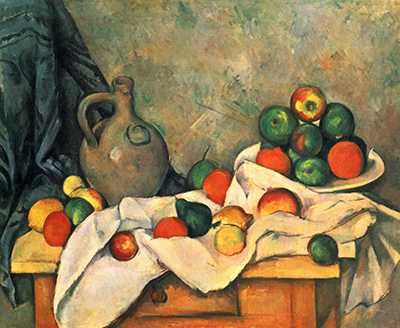 Curtain, Jug and Fruit Paul Cezanne
