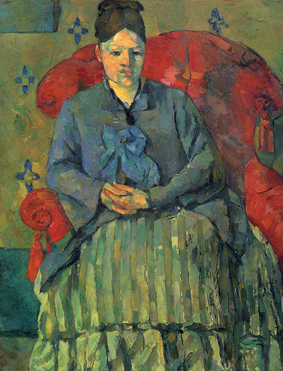 Madame Cezanne in a Red Armchair Paul Cezanne