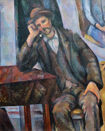 Man Smoking a Pipe Paul Cezanne