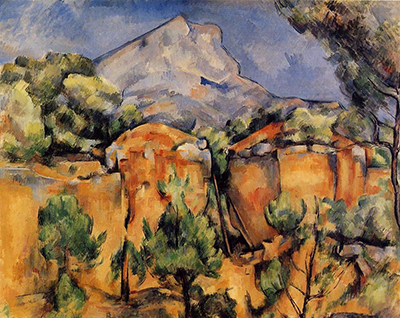 Mont Sainte Victoire seen from the Bibemus Quarry Paul Cezanne