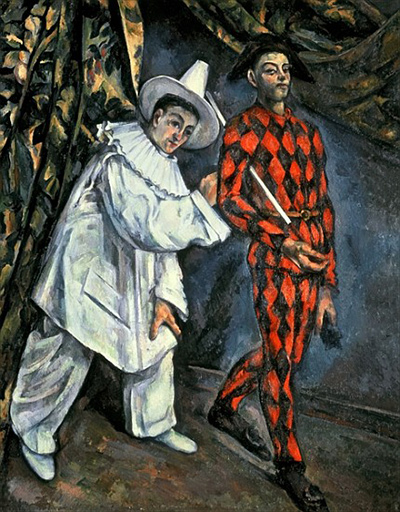 Pierrot and Harlequin Paul Cezanne