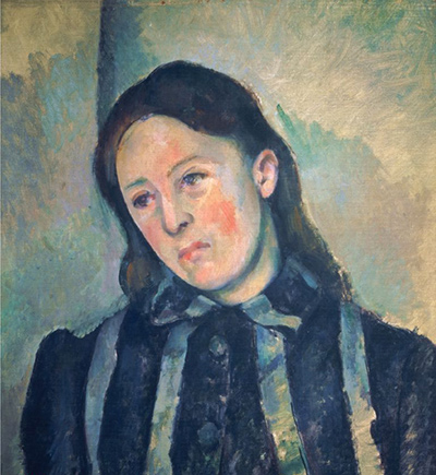 Portrait of Madame Cezanne with Loosened Hair Paul Cezanne