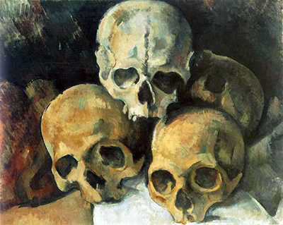 Pyramid of Skulls Paul Cezanne