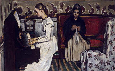 The Overture to Tannhauser - The Artist's Mother and Sister Paul Cezanne